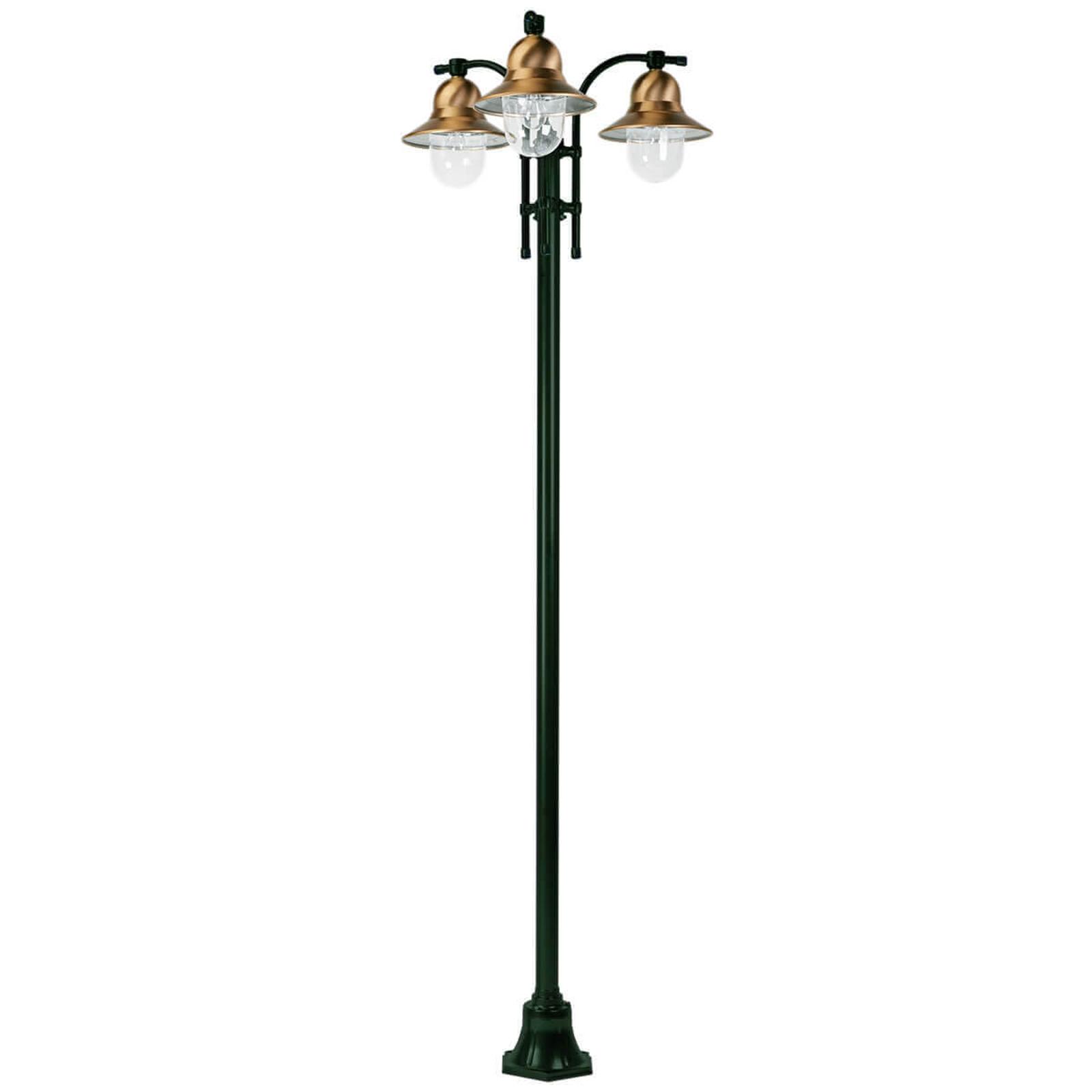 3-punktowa latarnia Toscane, zielona