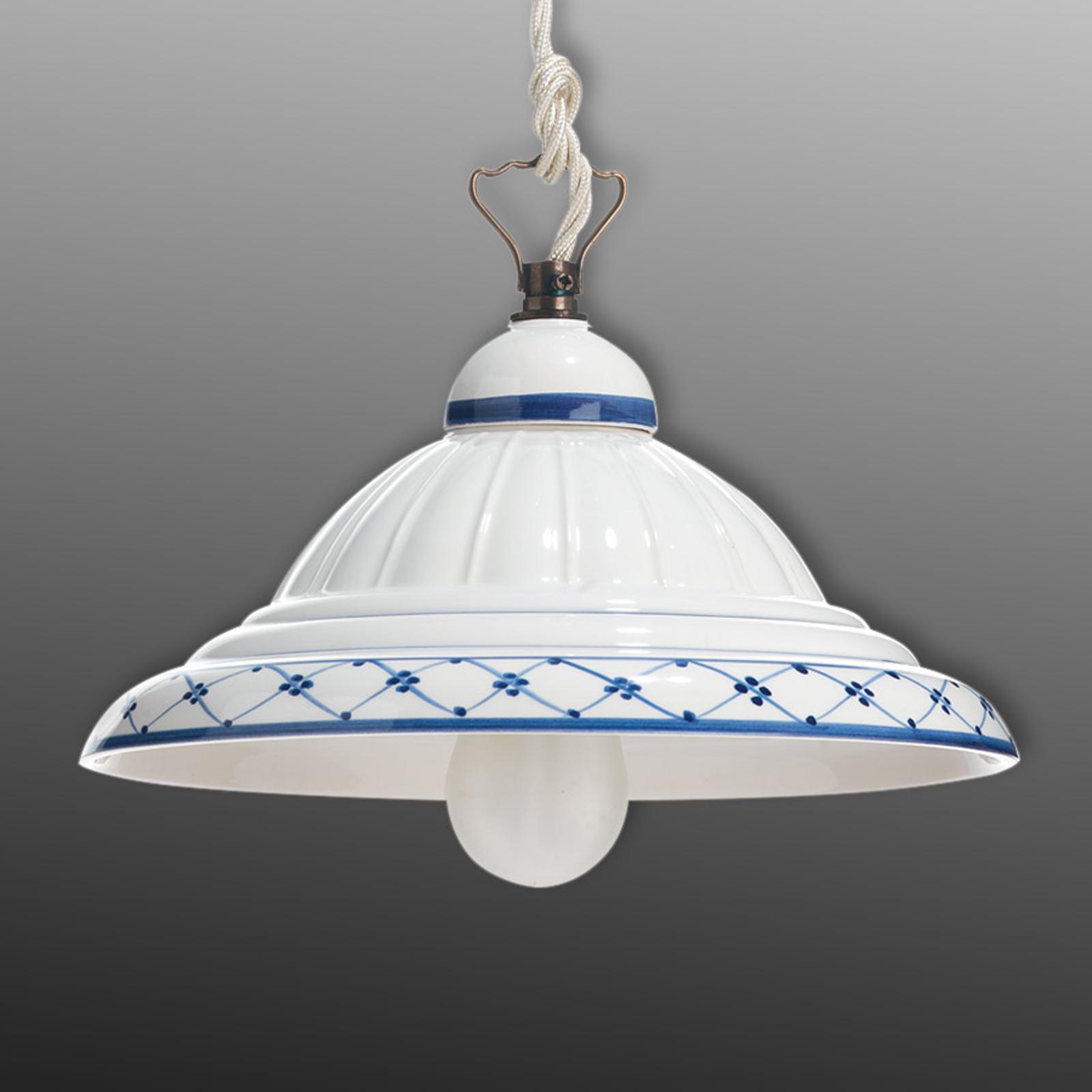 Keramiktaklampa Firenze i lantlig stil