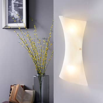 Chromowana lampa ścienna LED EBBA