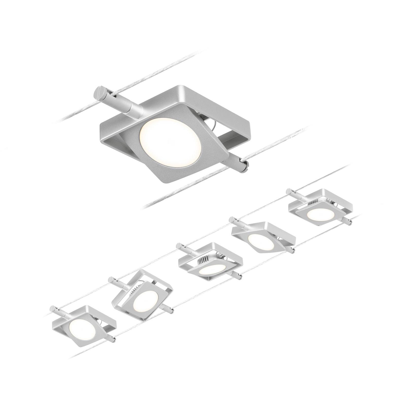 Paulmann Wire MacLED sistema LED funi 5 luci cromo