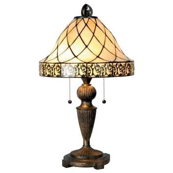 Bordlampe Diamond i Tiffany-stil, 62 cm