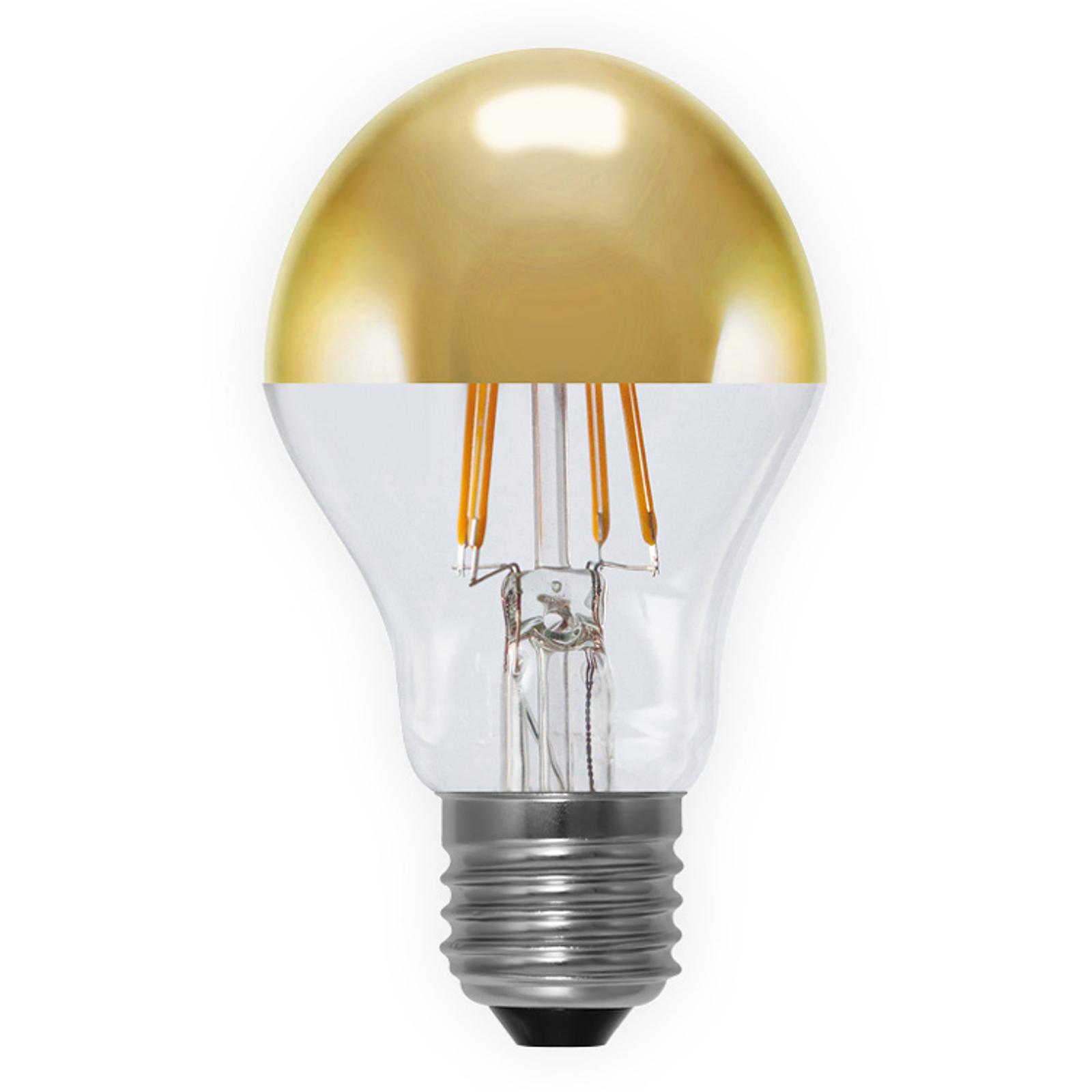Lampadina a filamenti LED con testa specchiata 926