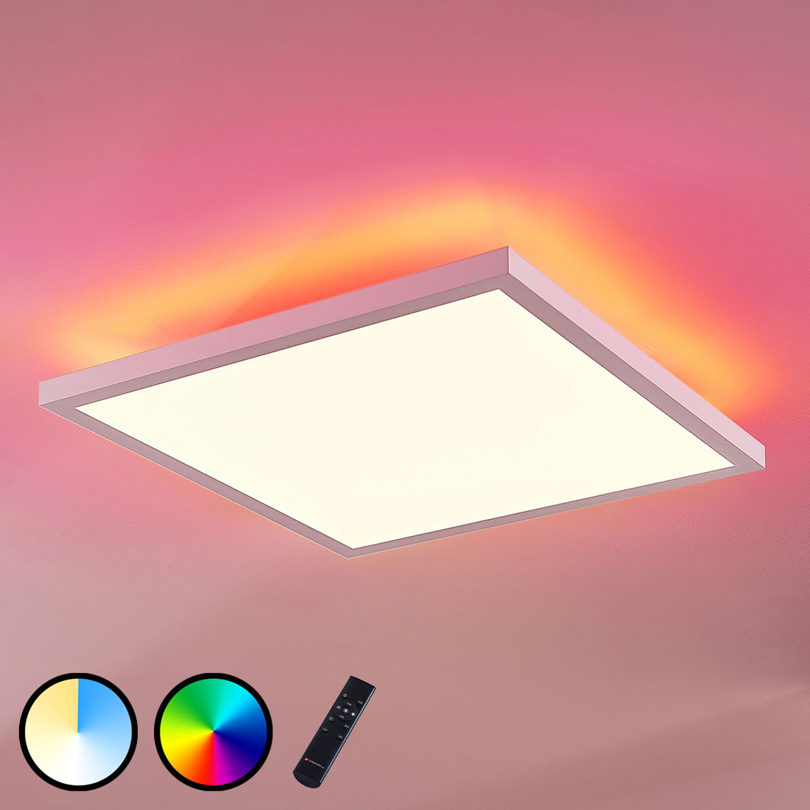 LED-panel Brenda CCT fjernbetjening, 40 x 40 cm