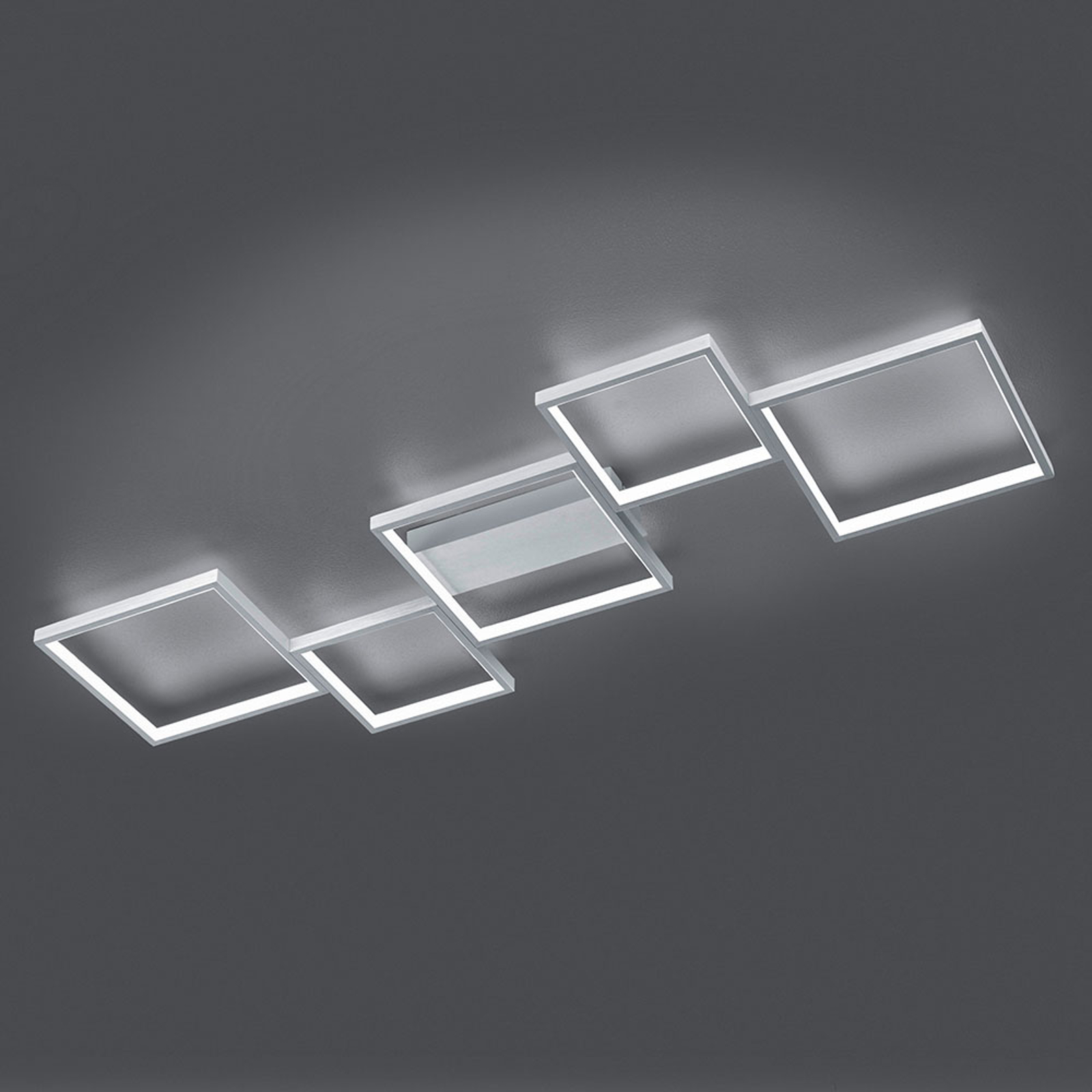 LED-Deckenleuchte Sorrento 120x48cm, alu gebürstet
