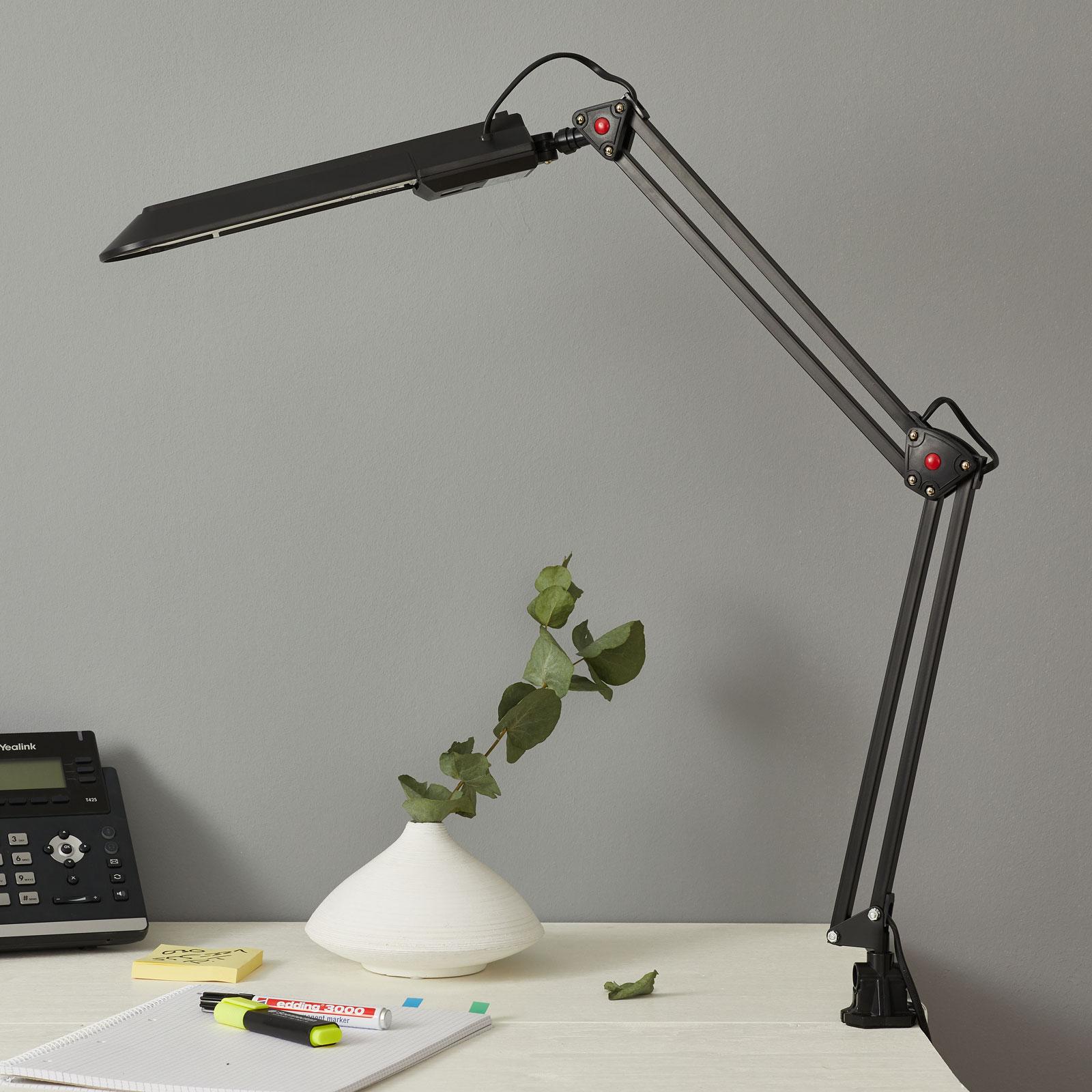 Arbetsplatsbelysning PRACY, svart