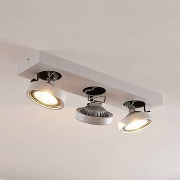 Lámpara LED de techo Negan en blanco, 3 luces