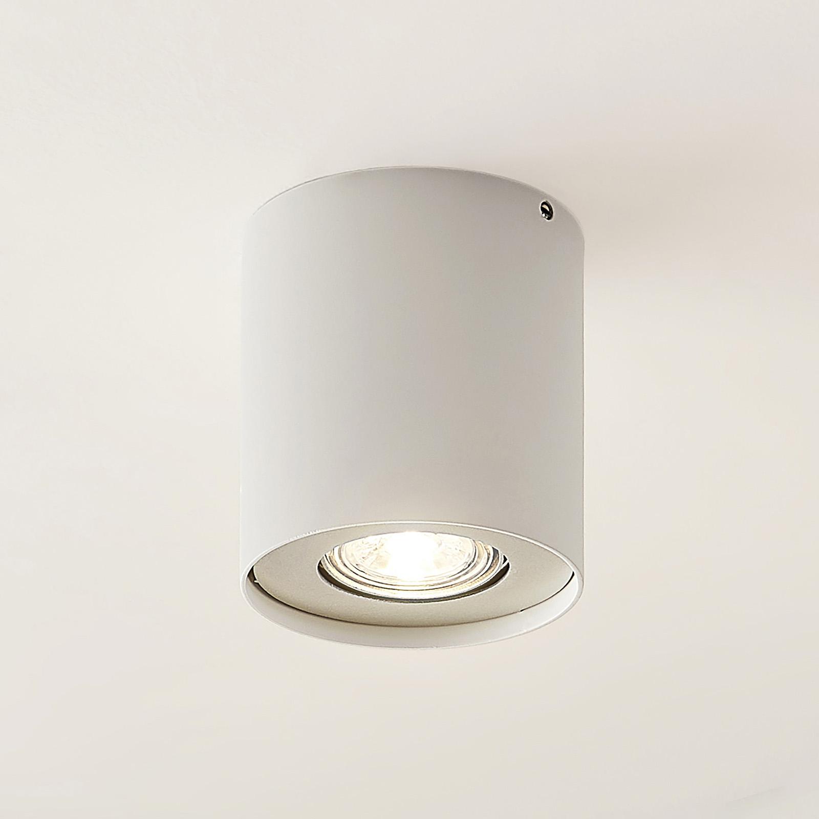 Lindby Laron GU10-downlight, rund, hvit