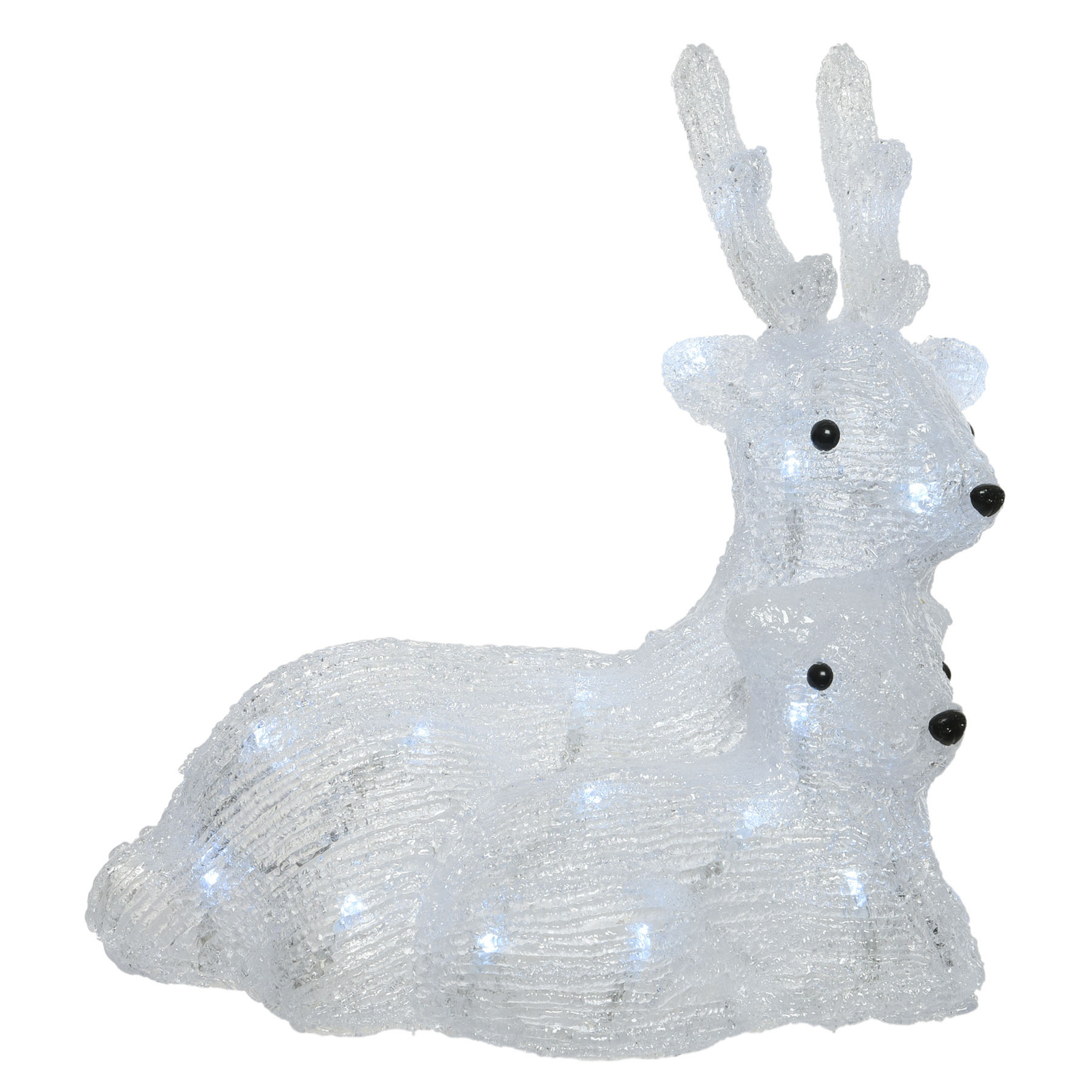 Figurine LED Cerf, biche et faon, pile