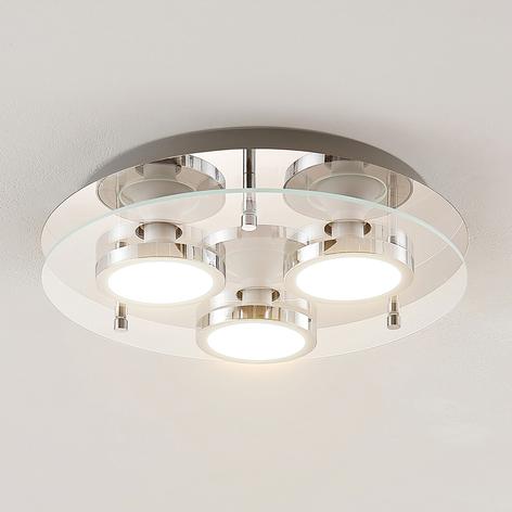Lindby Gabryl lámpara LED de techo 3 luces redonda