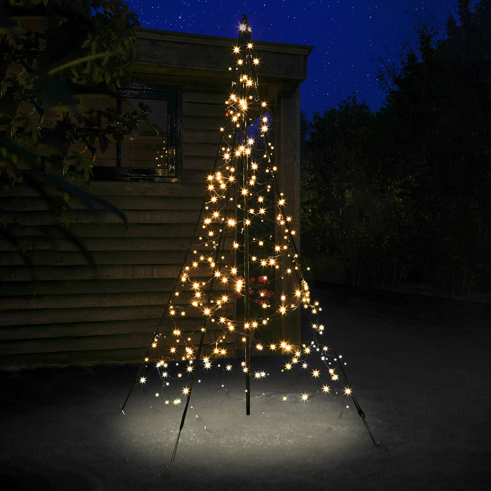Midterstang - Fairybell® juletræ 2 m 300 lyskilder