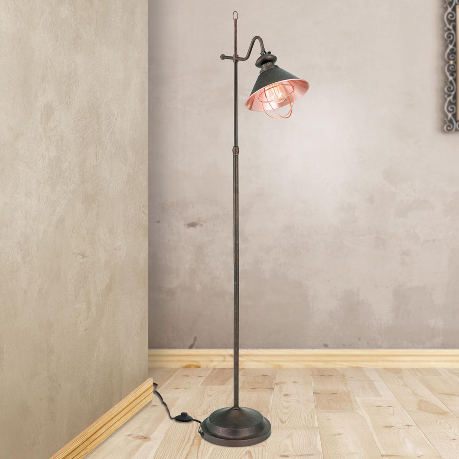 Lampa stojąca Shanta w antycznym stylu