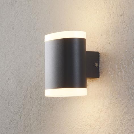 Applique da esterni LED Maurus grigia, a 2 luci