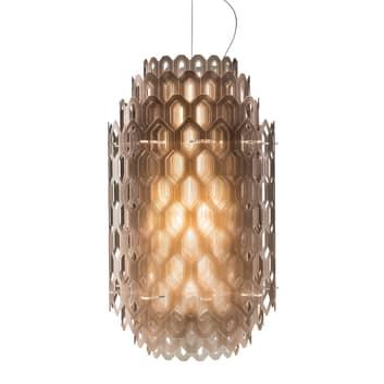 Orange-brun designer pendellampe Chantal med LED