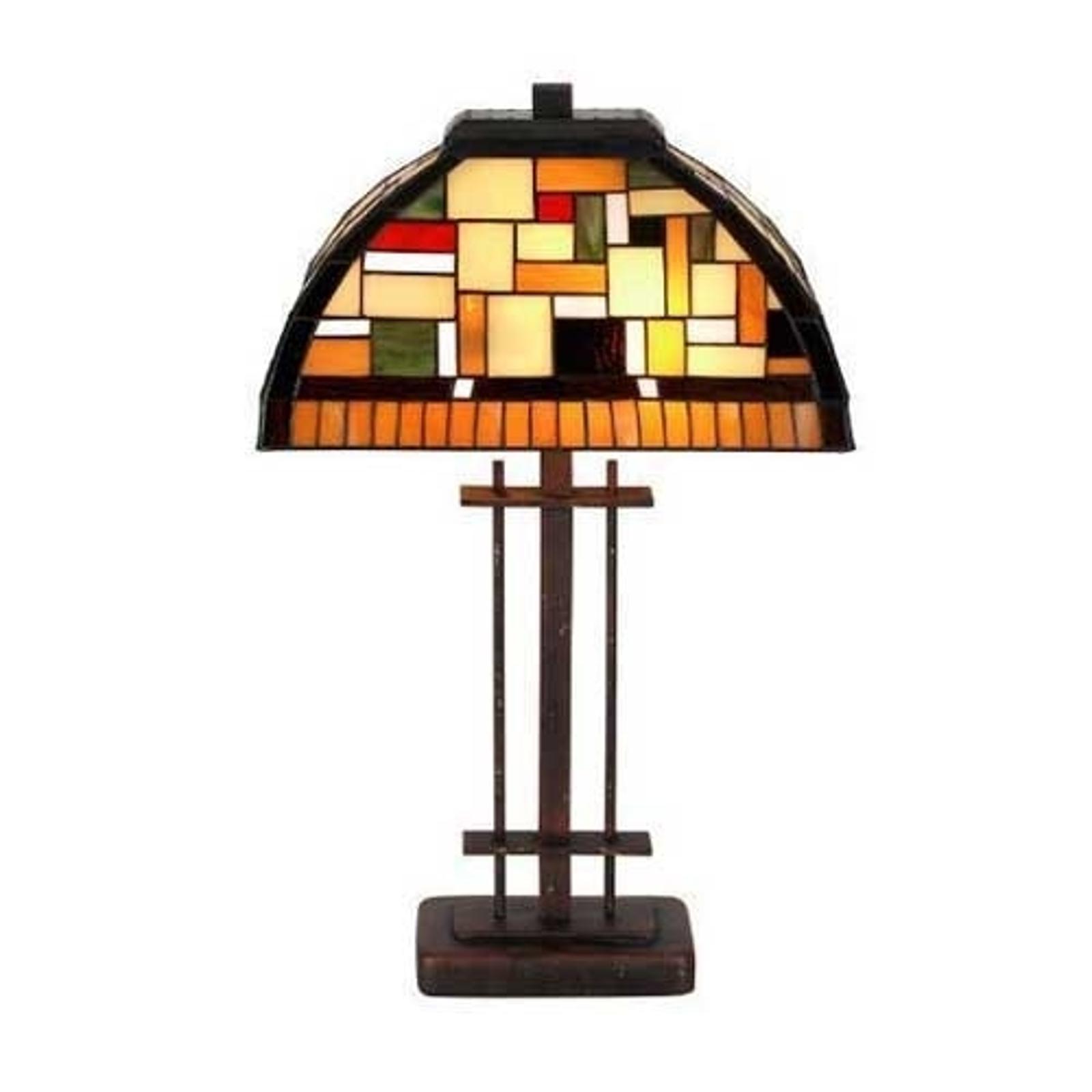 Lampa stołowa MOSAICA w stylu Tiffany