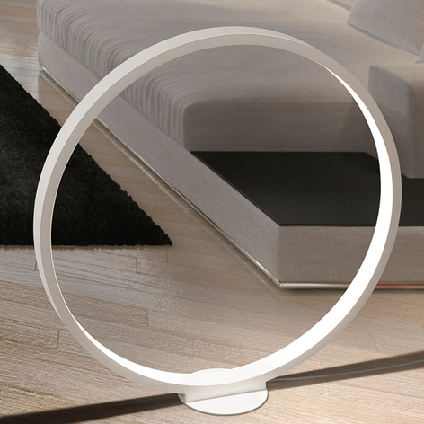 Ringformad LED-golvlampa Assolo, 70 cm