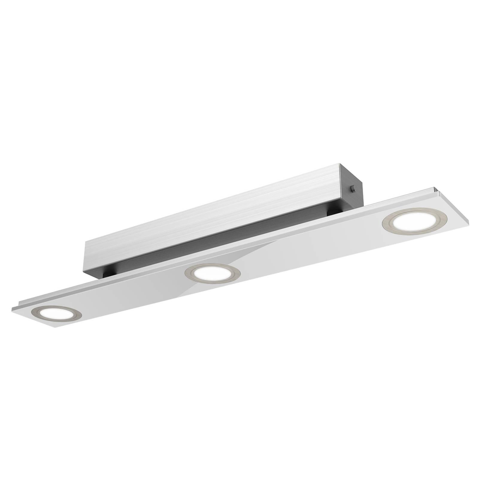 Pano - dreiflammige LED-Deckenleuchte in Metallic