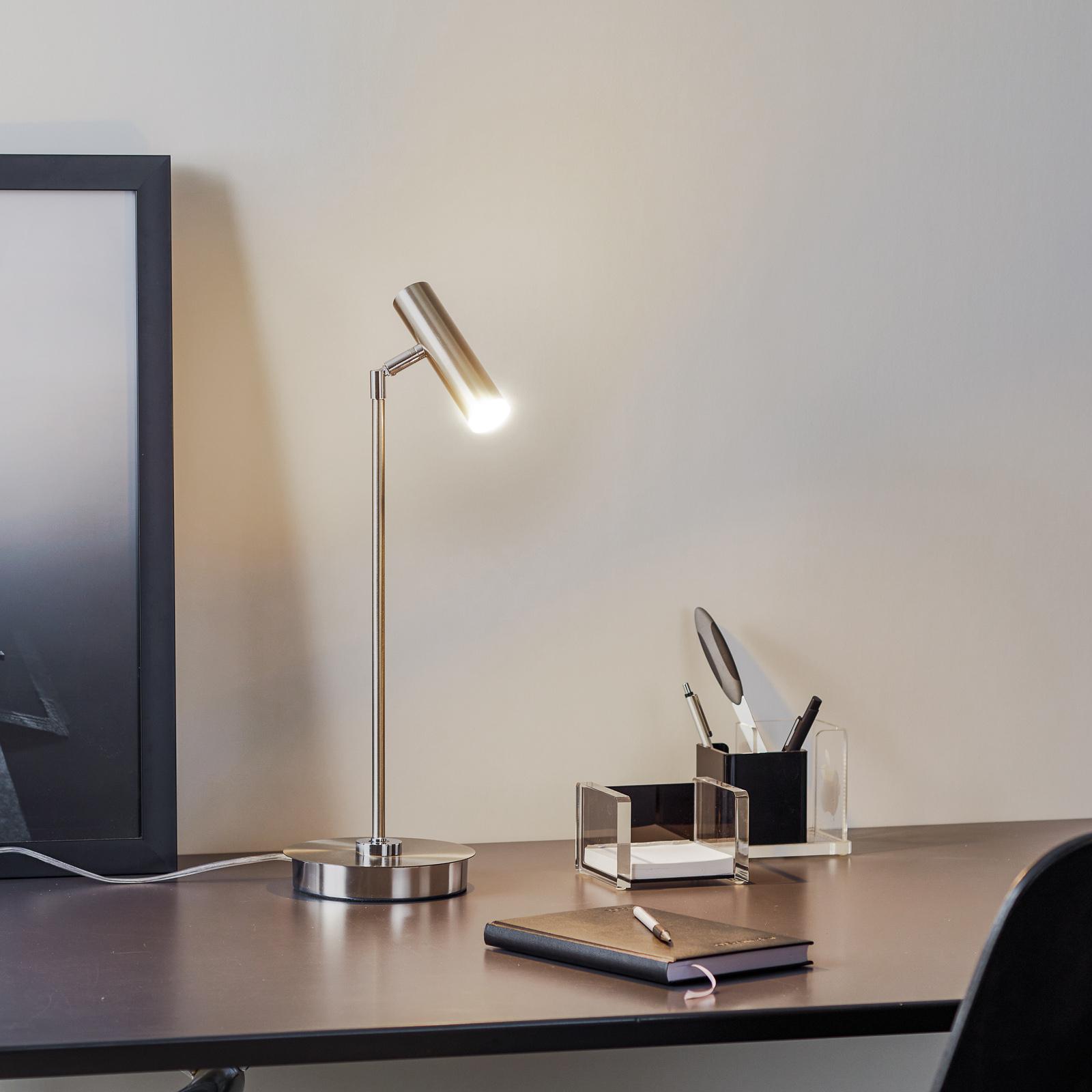 B-Leuchten Tom LED-Tischleuchte, nickel matt