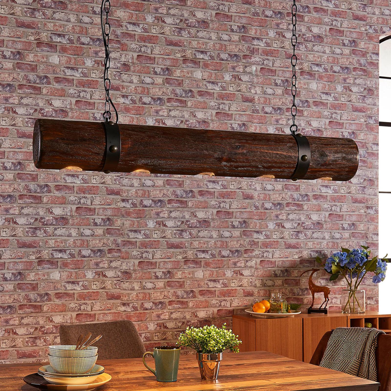 Ekstrawagancka drewniana lampa wisząca Legno