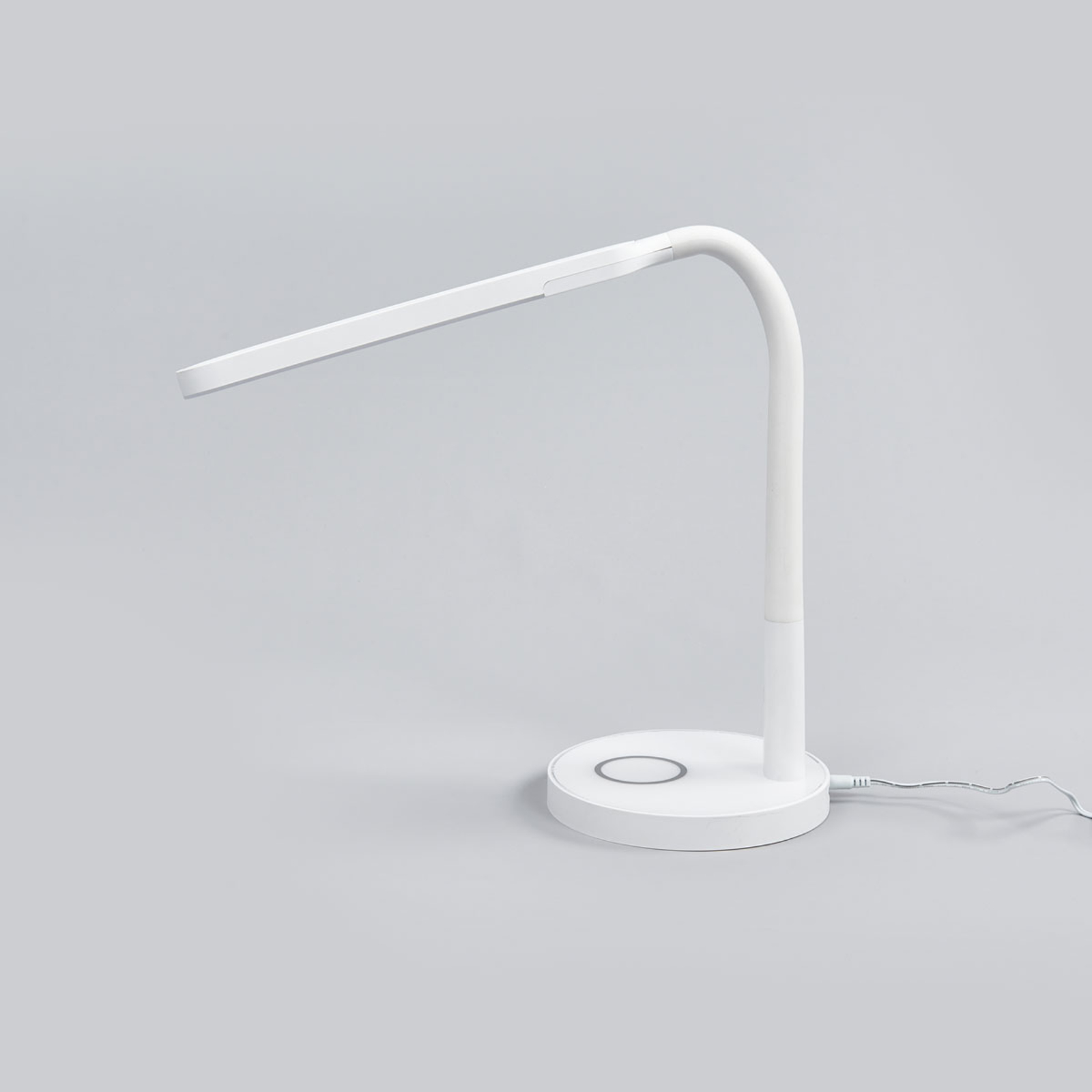 Maily hvit LED skrivebordslampe, USB tilkobling