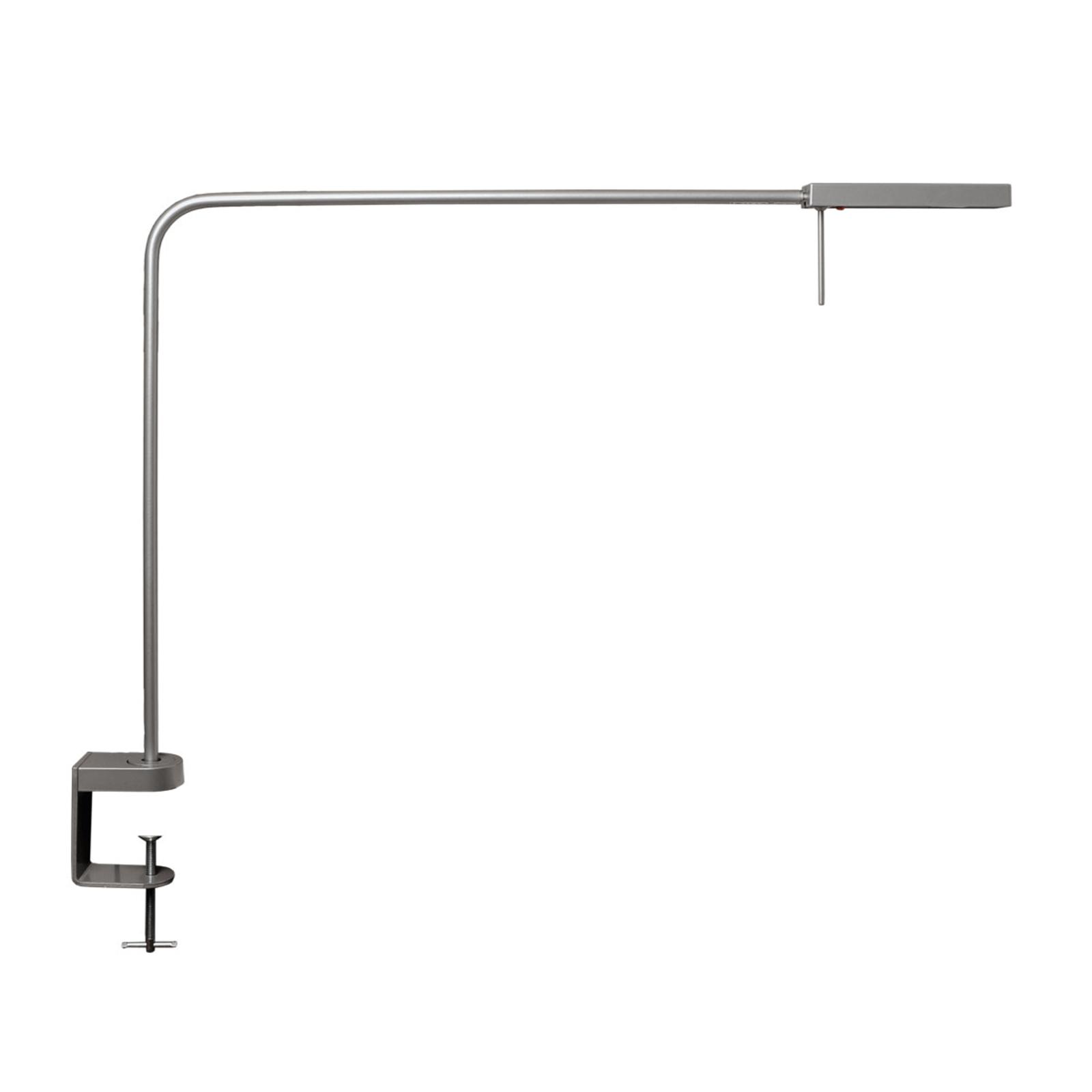 Lampe de travail LED Ninety pince gris argenté