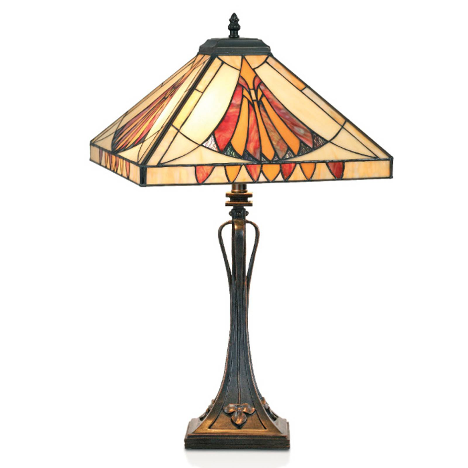Sierlijke tafellamp AMALIA in Tiffany-stijl