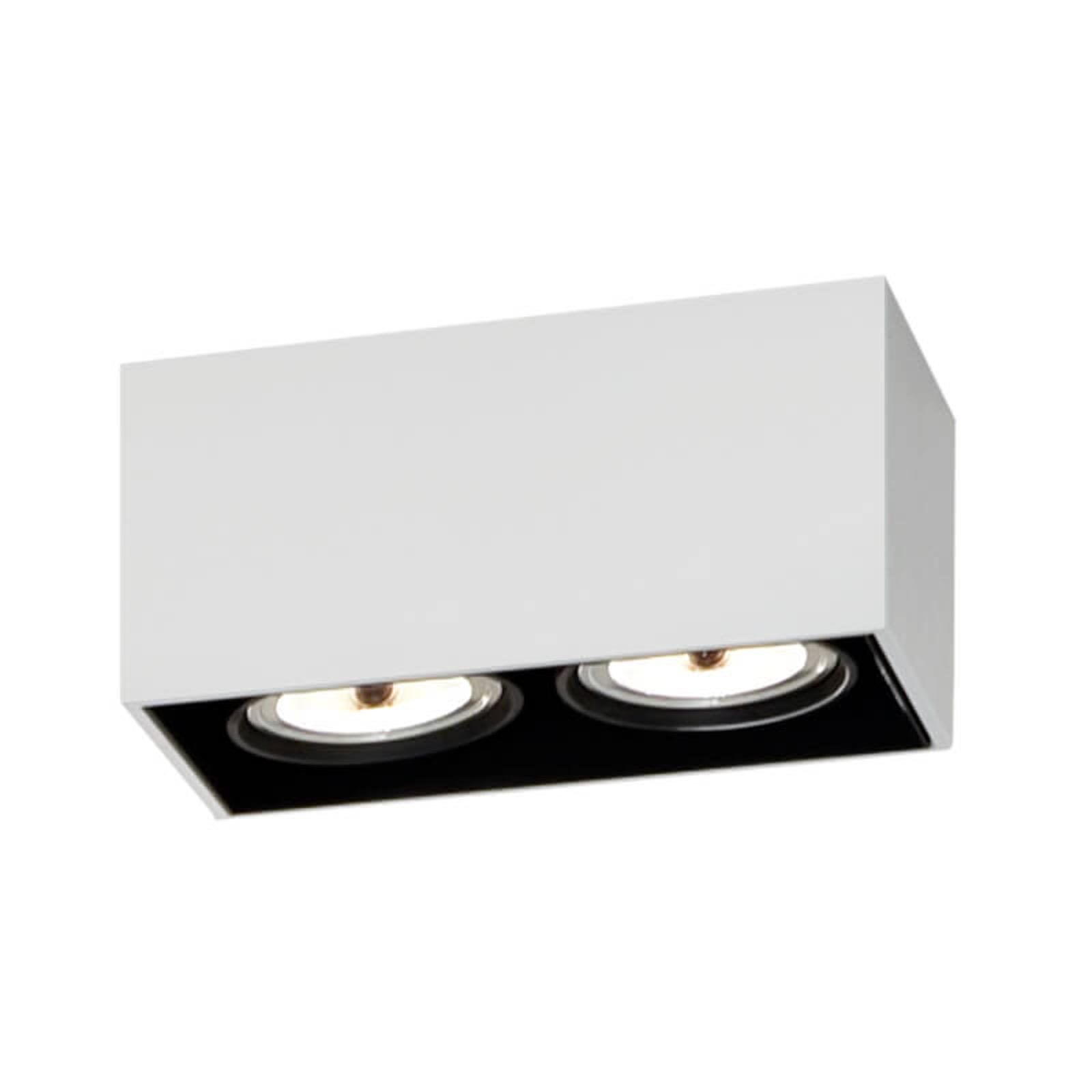 Hvit Compass Box taklampe med to lys