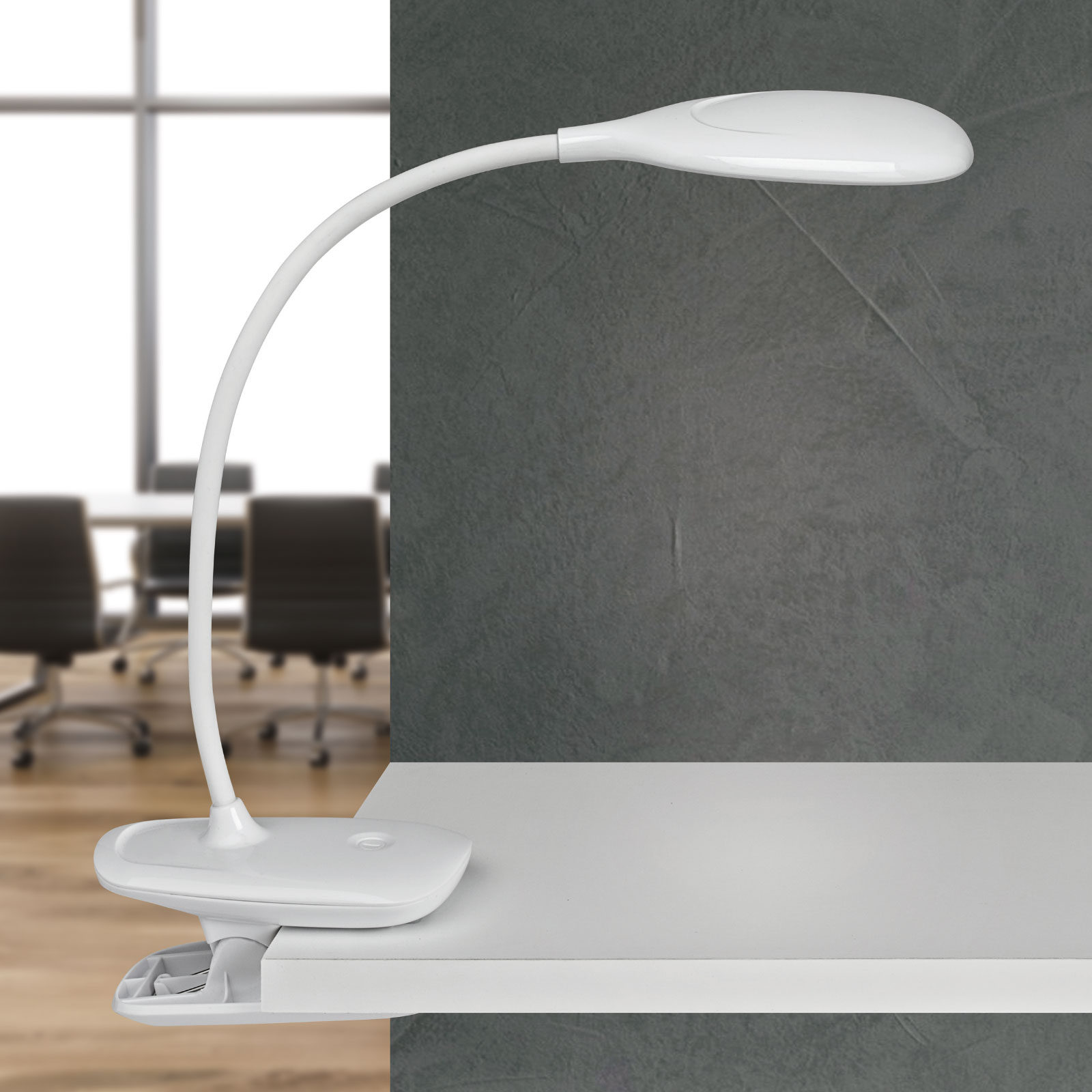 LED-Schreibtischleuchte MAULjack Akku, dimmbar