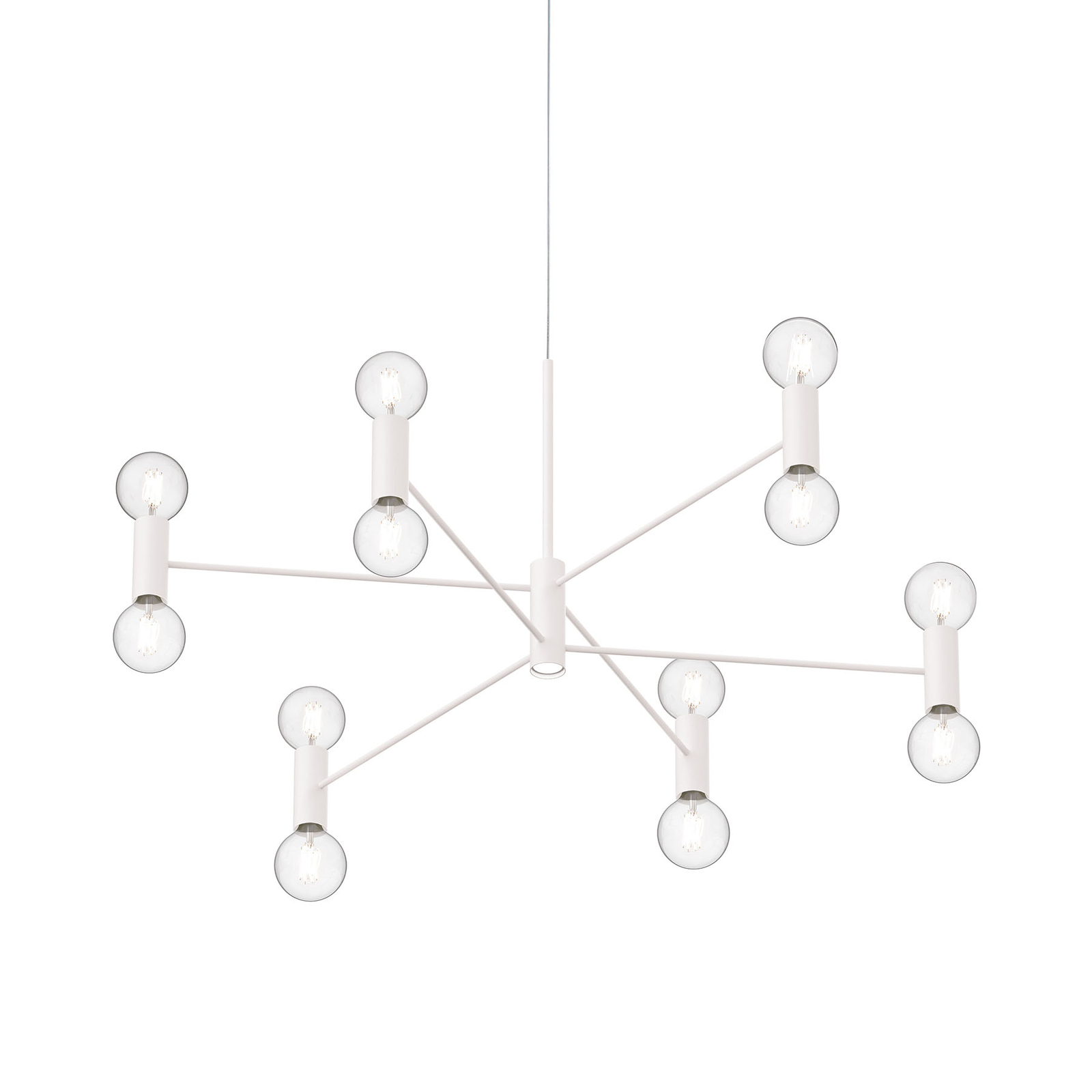 Modo Luce Chandelier suspension 13l 107cm blanche
