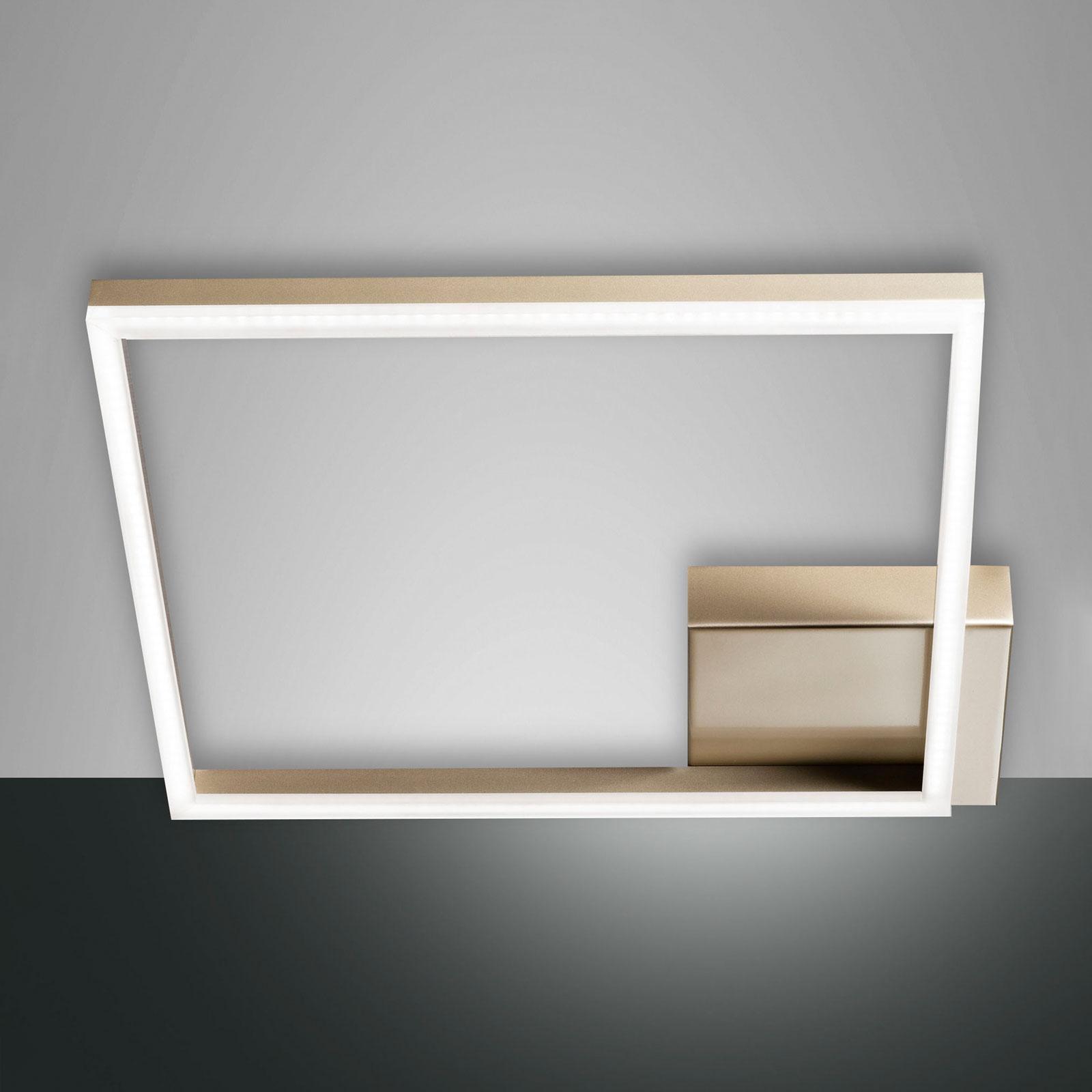 LED plafondlamp Bard, 42x42cm, matgoud finish