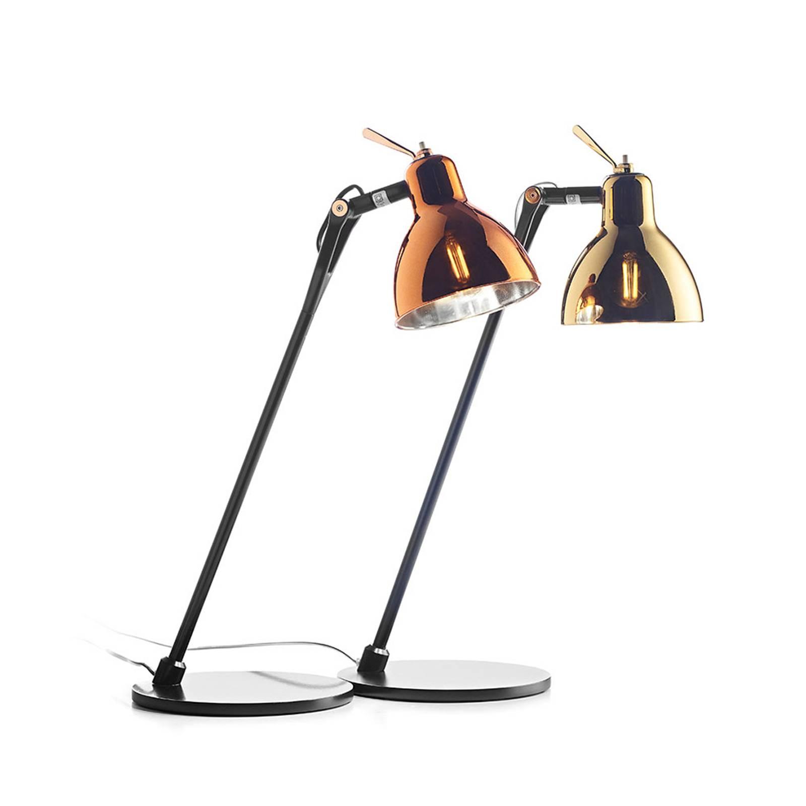 Rotaliana Luxy T0 Glam lampada da tavolo nero/oro