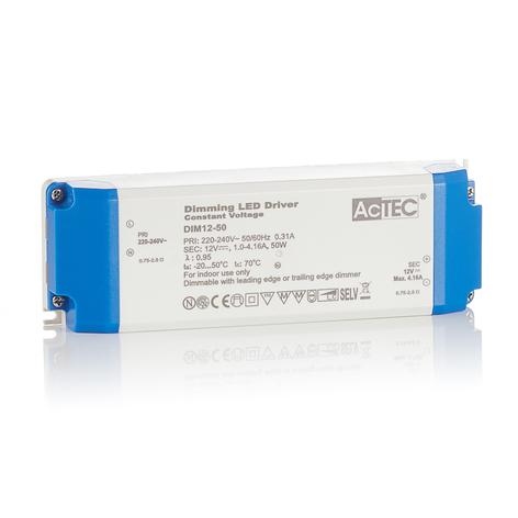 AcTEC DIM LED driver CV 12V, 50W, dimbaar