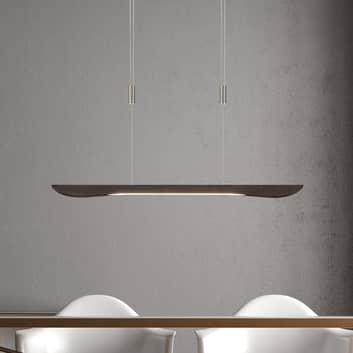 Lucande Hiba LED-Hängelampe, eiche kolonial 88 cm