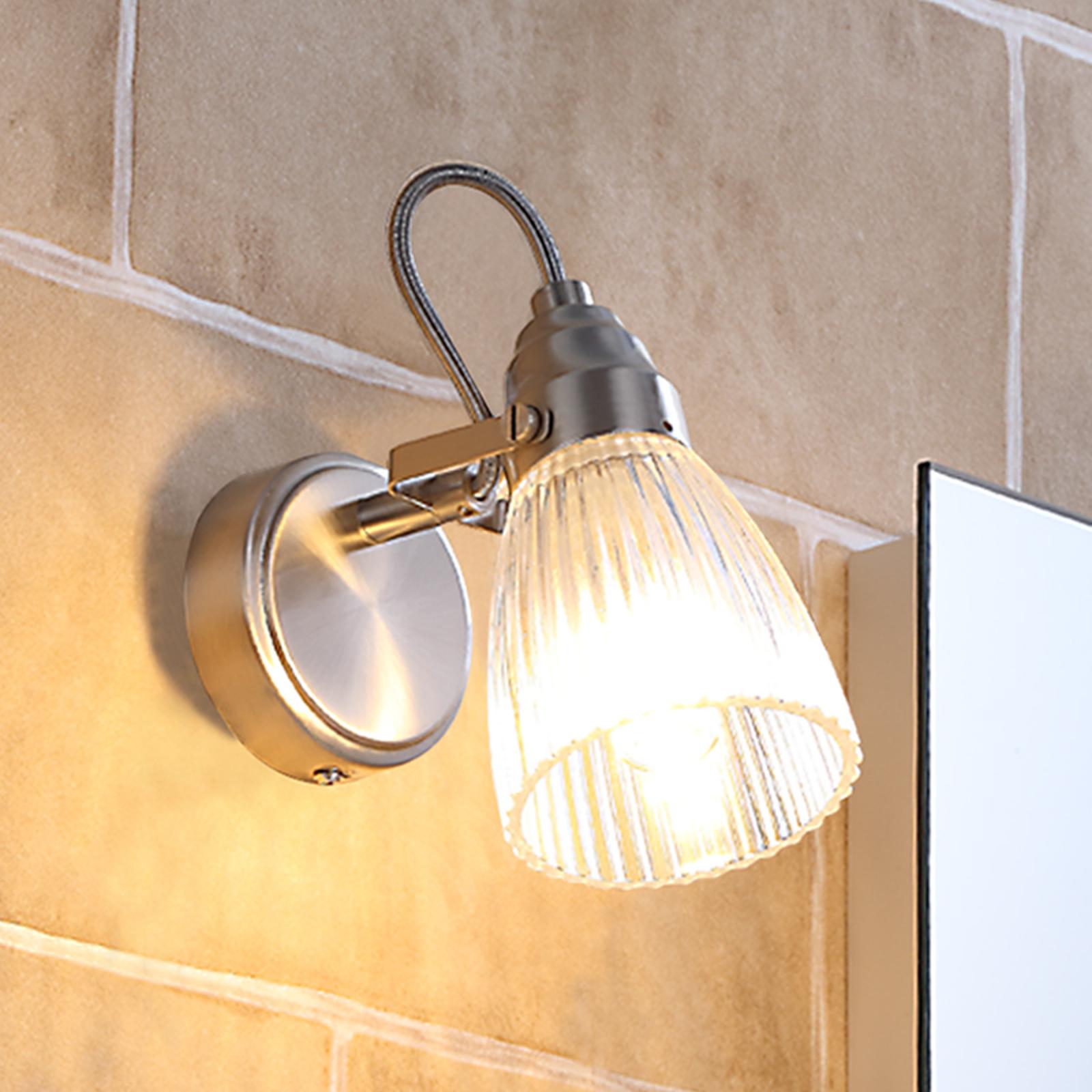 Pen badevegglampe Kara med LED-lys, IP44