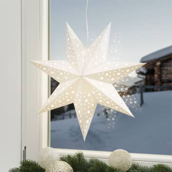 Estrella Solvalla para colgar, 45 cm, plata