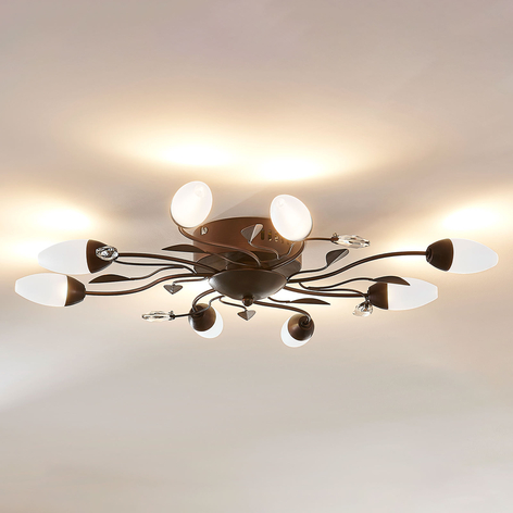 Lámpara LED de techo Renato atenuable, 8 brazos