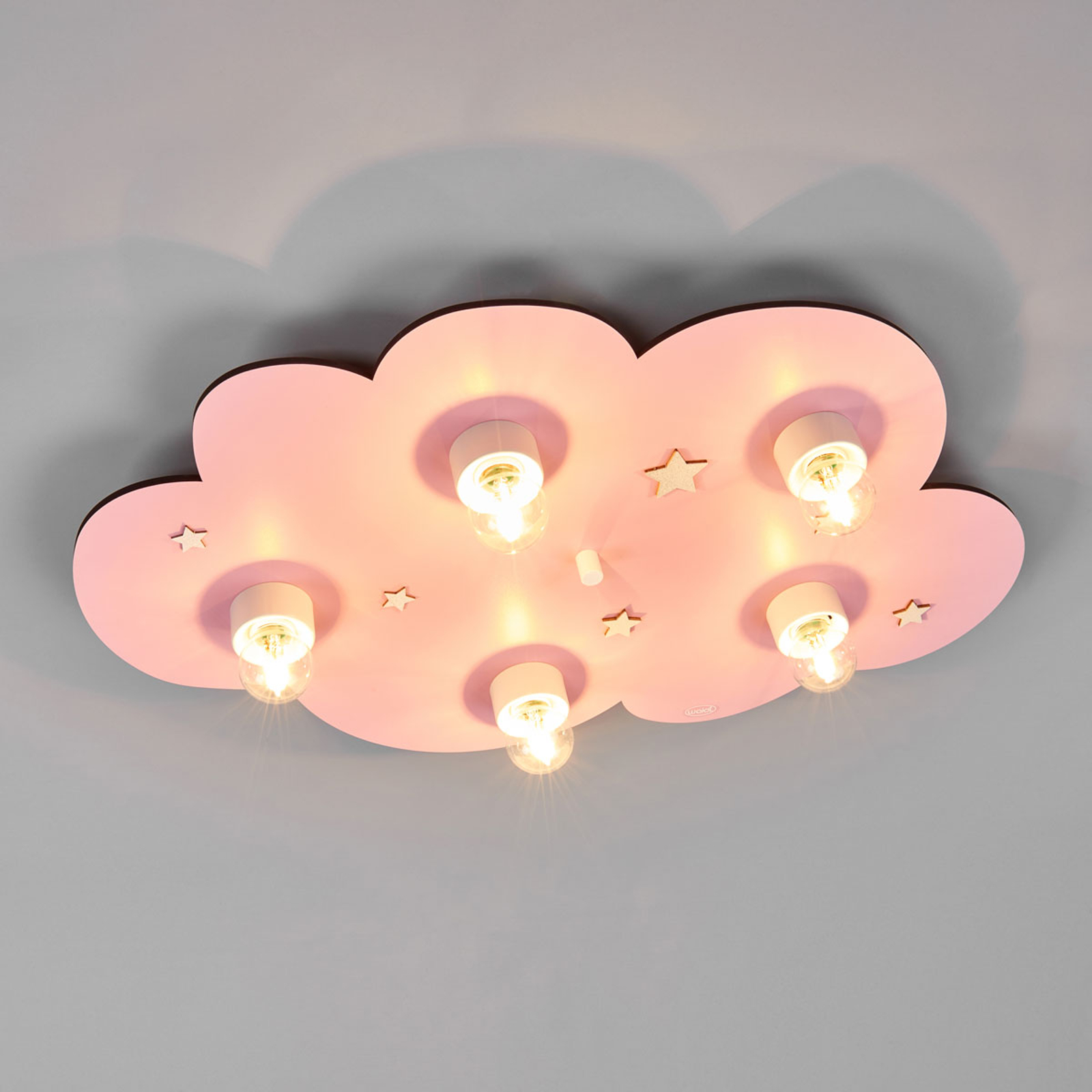 Dreamy pink Cloud children's ceiling light_9606068_1