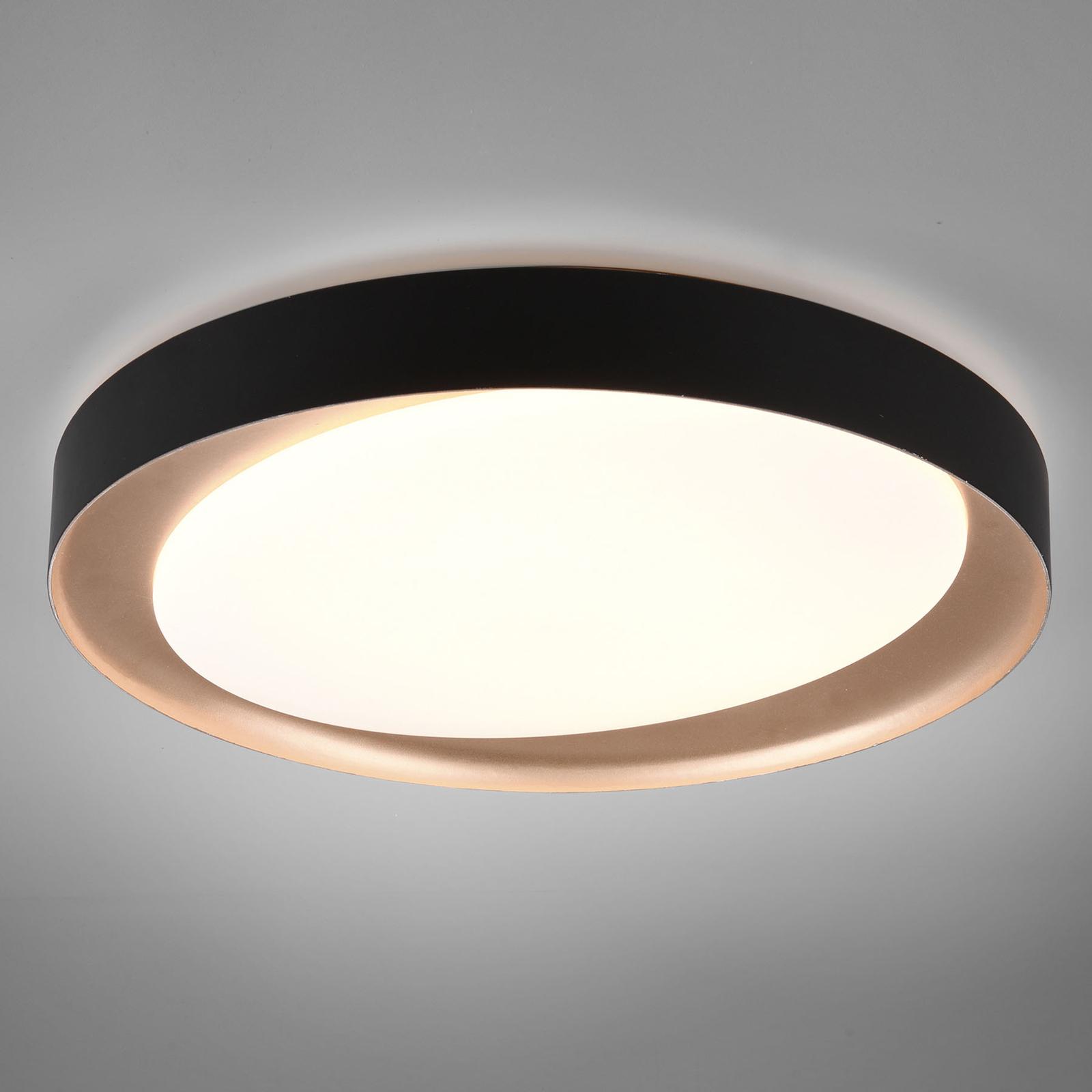 Plafonnier LED Zeta tunable white, noir/doré