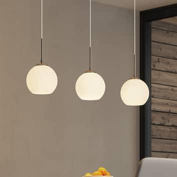 Glazen hanglamp Sofian met drie lampen