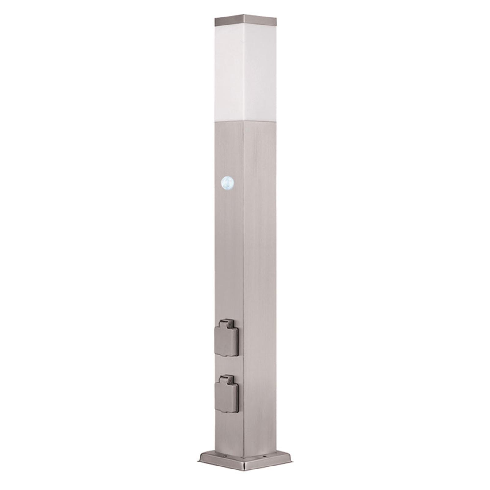 LED-Wegelampe 400166, 2 Steckdosen Bewegungsmelder
