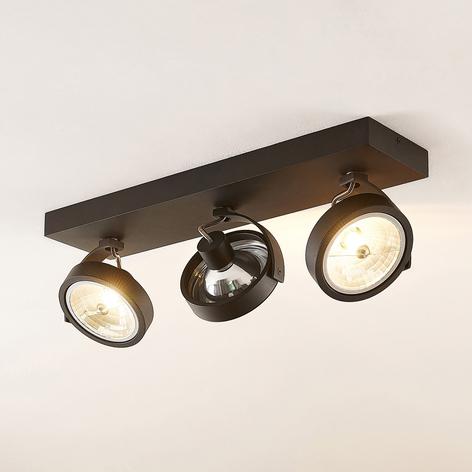 Arcchio Dagur stropní bodové světlo, třížár. černé
