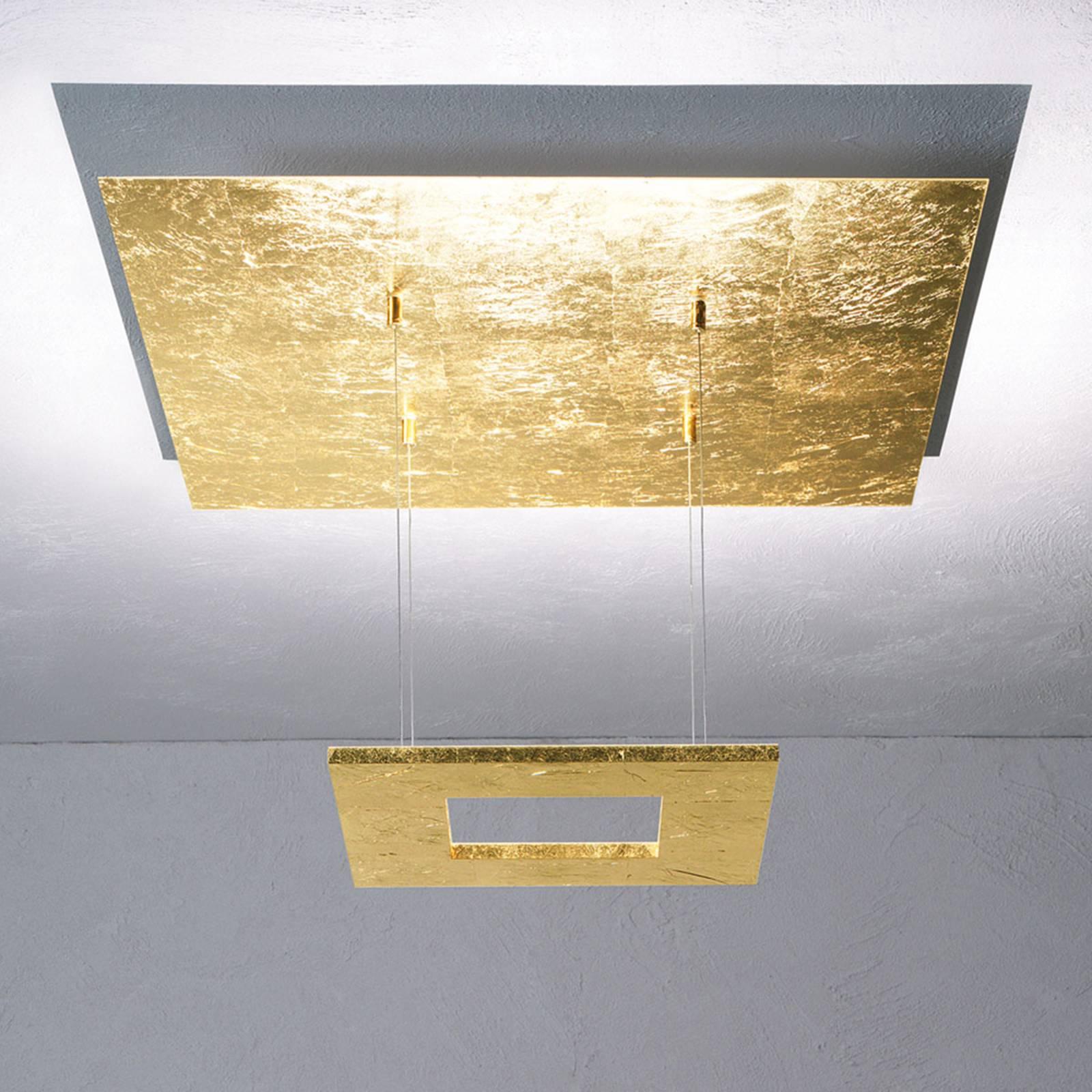 Escale Zen - suspension LED avec feuille d'or