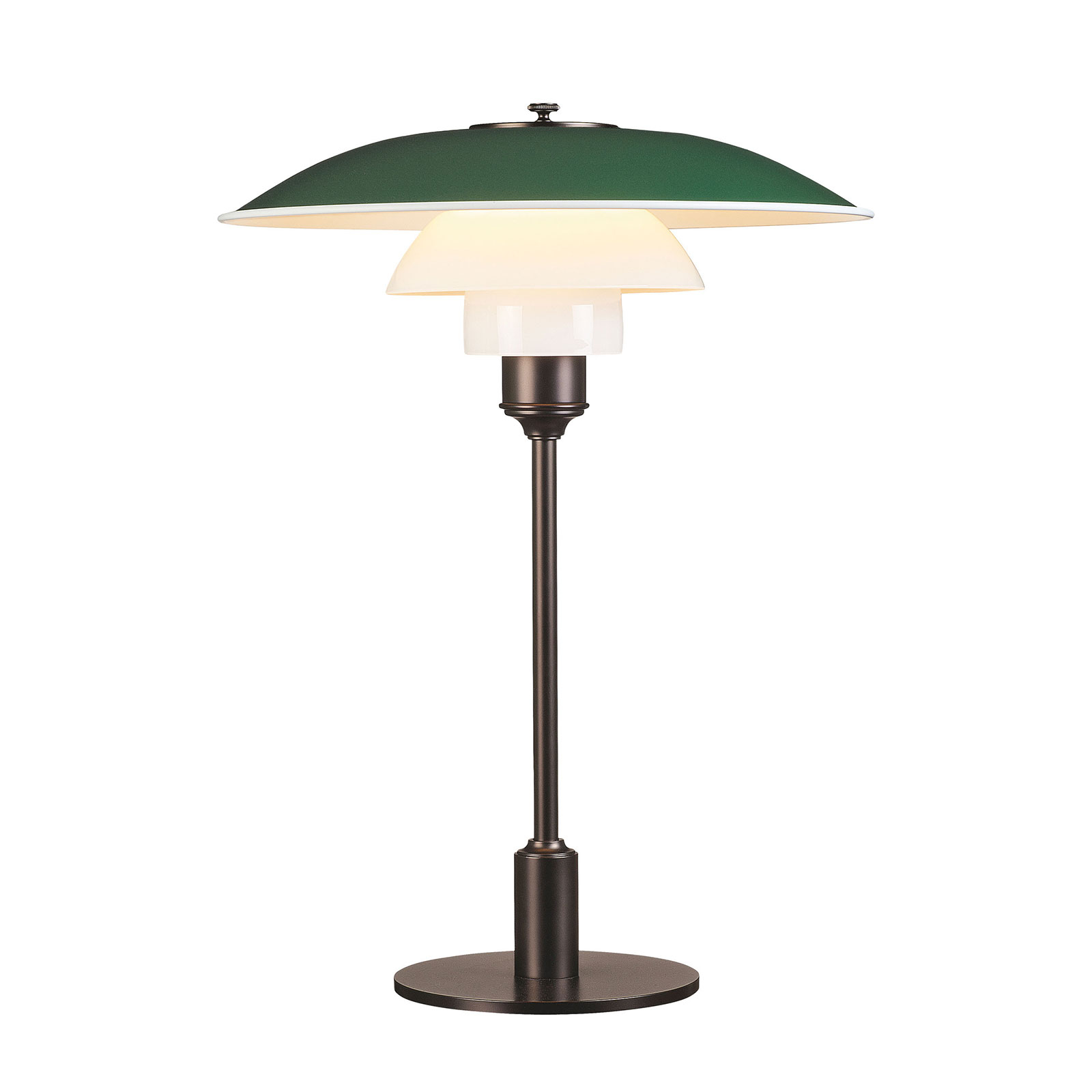 Louis Poulsen PH 3 1/2-2 1/2 bordlampe brun/grønn