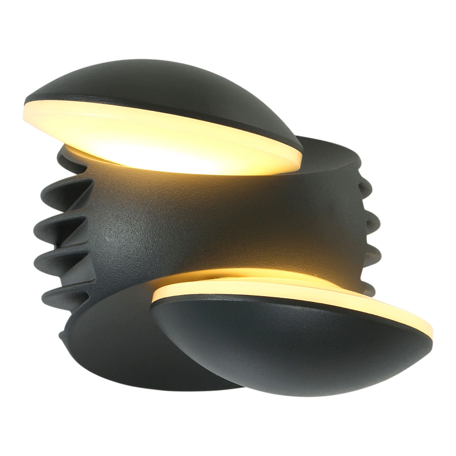 LED buitenwandlamp Luna, uittrekbaar