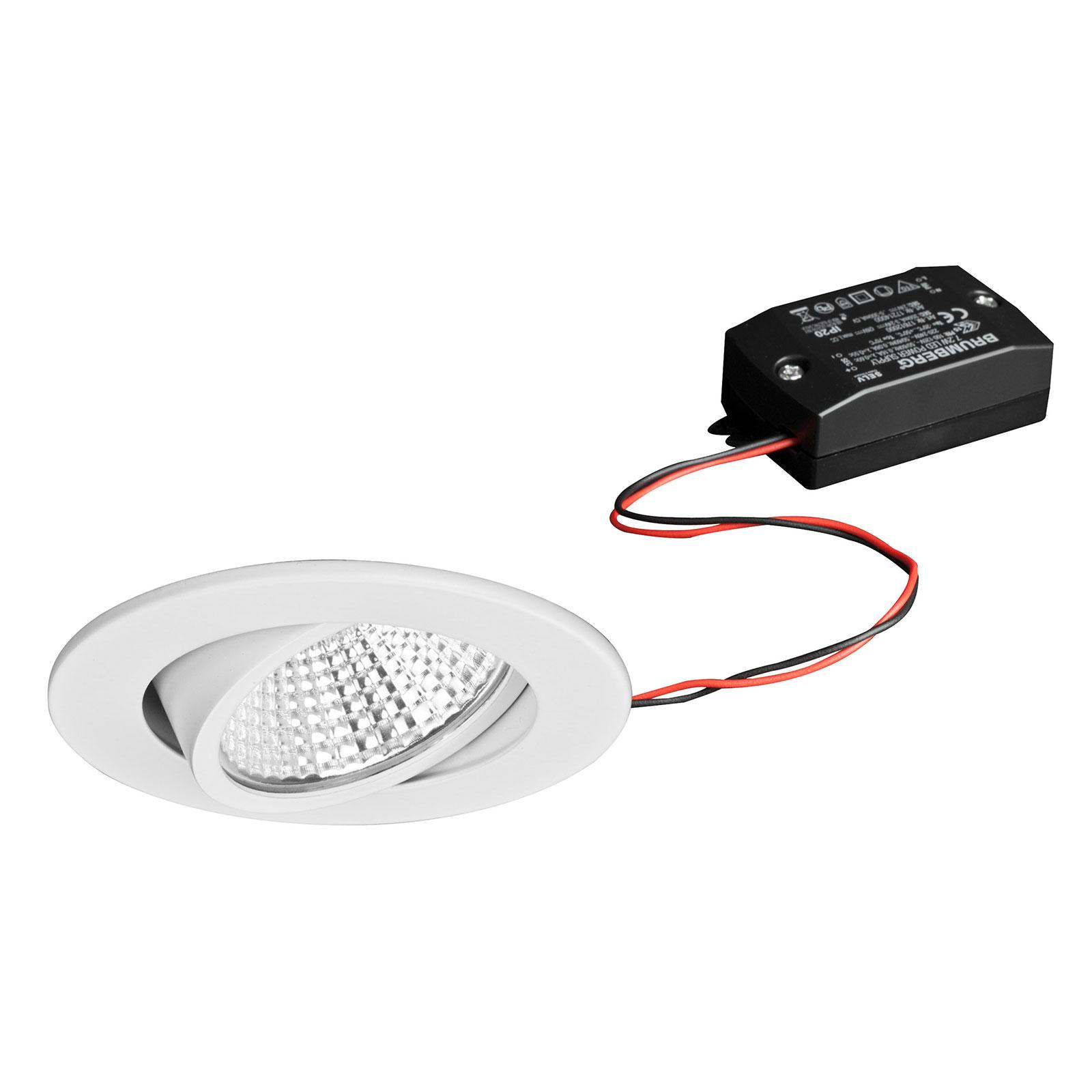 BRUMBERG LED-Einbaustrahler 38° rund weiß 2.700K