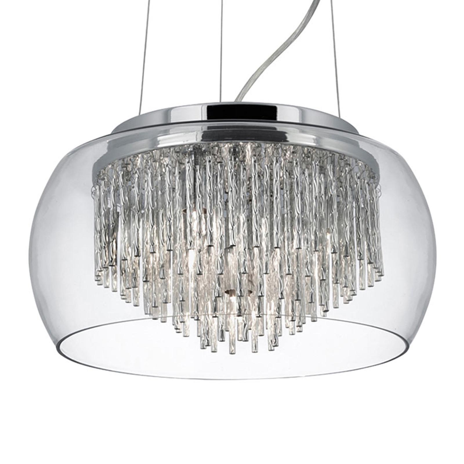 Glazen hanglamp Curva in glanzend ontwerp