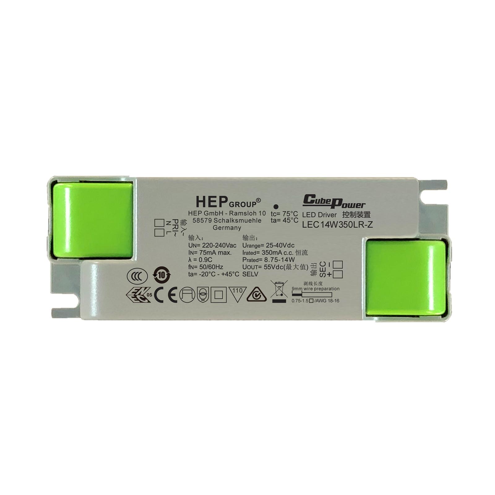 LED-Treiber LEC, 14 W, 350 mA, CC