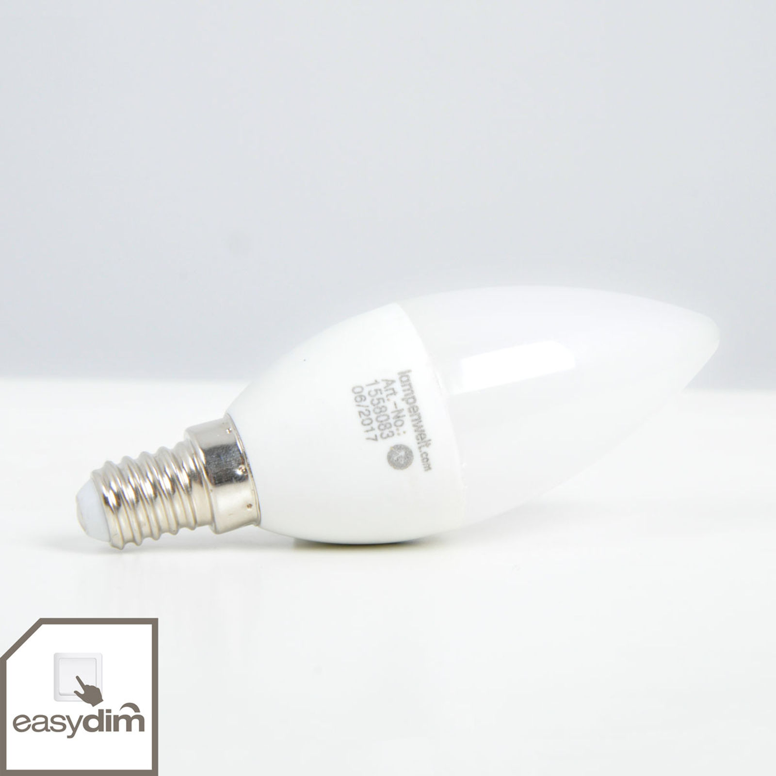 LED-ljuslampa E14 5W, varmvit, easydim