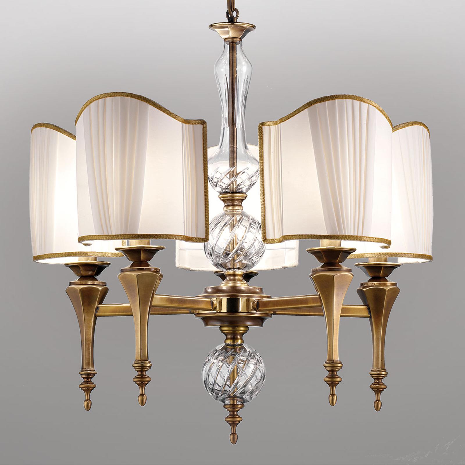 Belle Epoque, lampada a sospensione anticata
