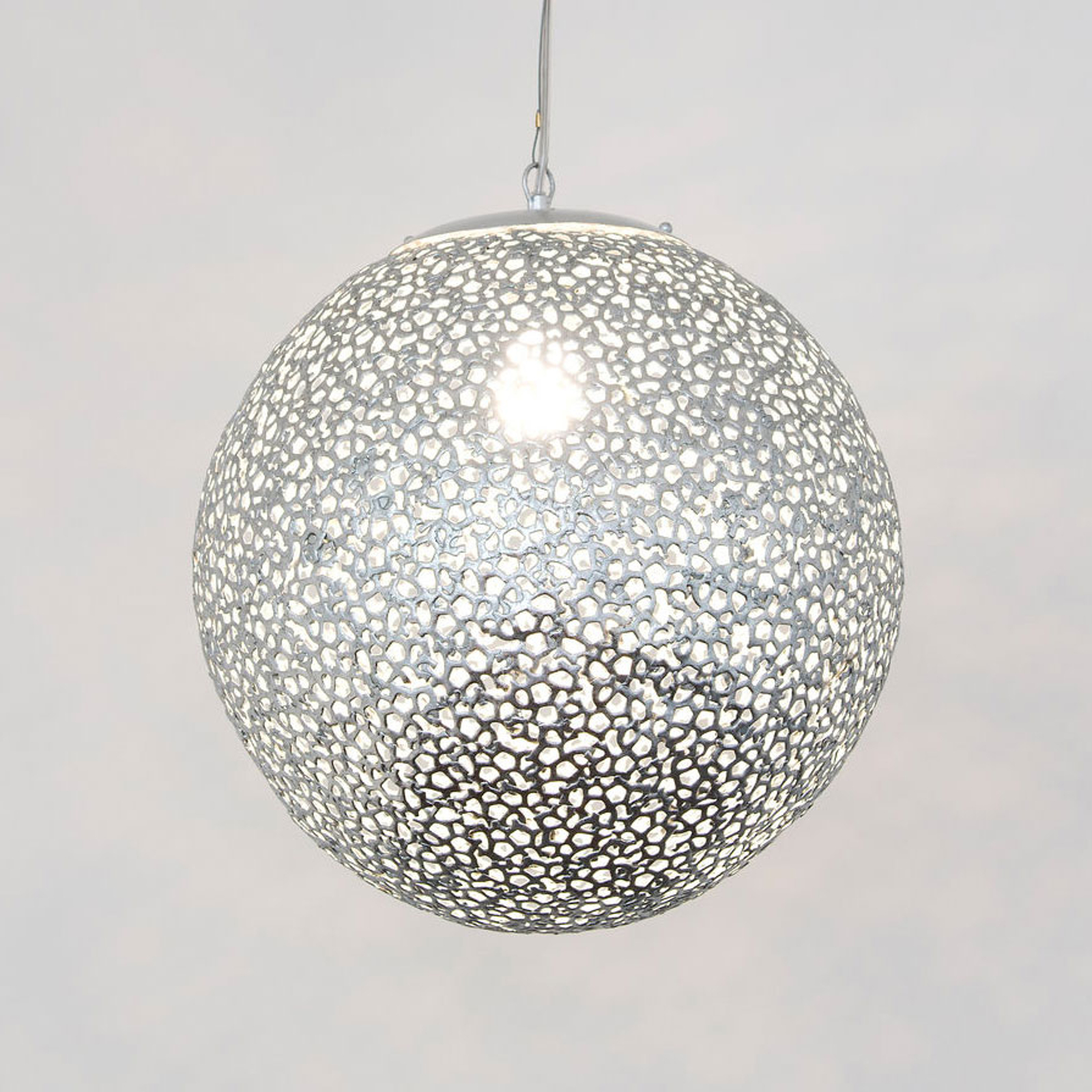 Utopistico hængelampe i sølv, Ø 40 cm