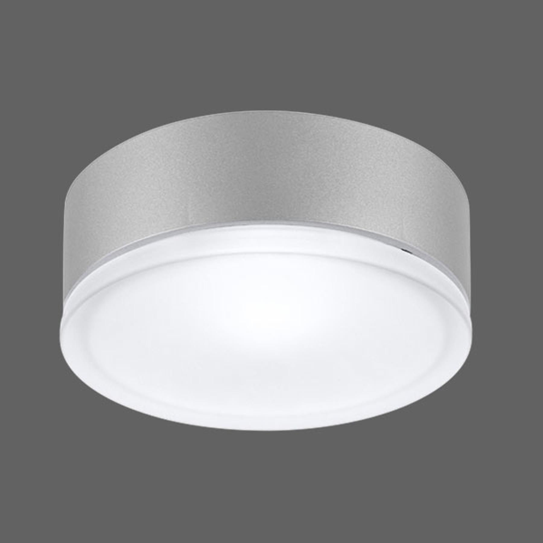 Capteur HF - applique LED Drop 28 grise 4000K